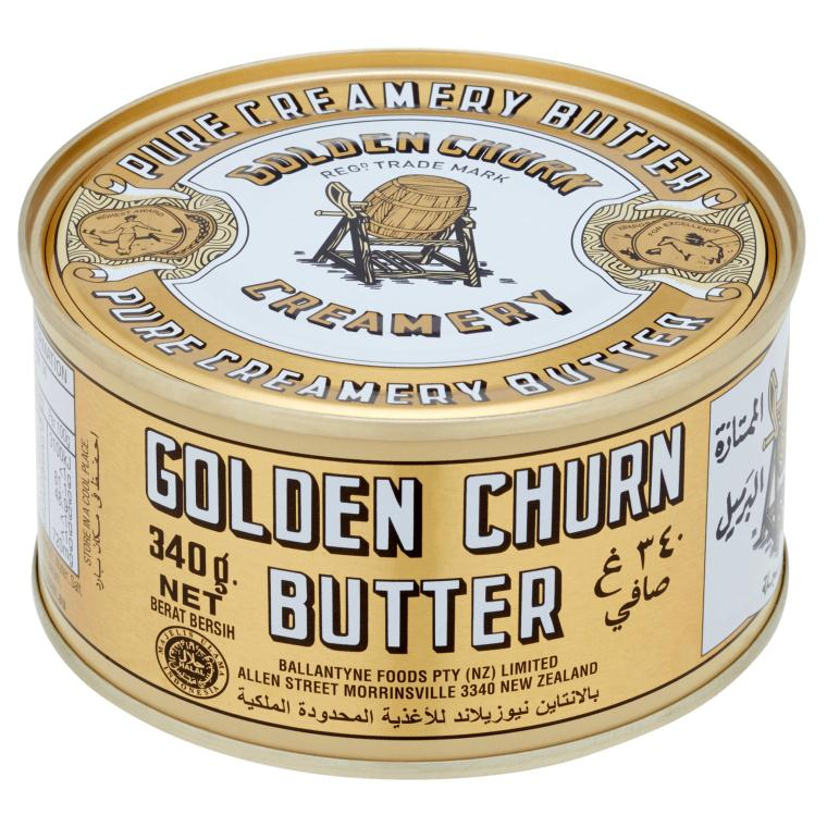 GOLDEN CHURN Canned Butter Pure Creamery Butter 340g/can (24 cans per  carton) Imported from New Zealand