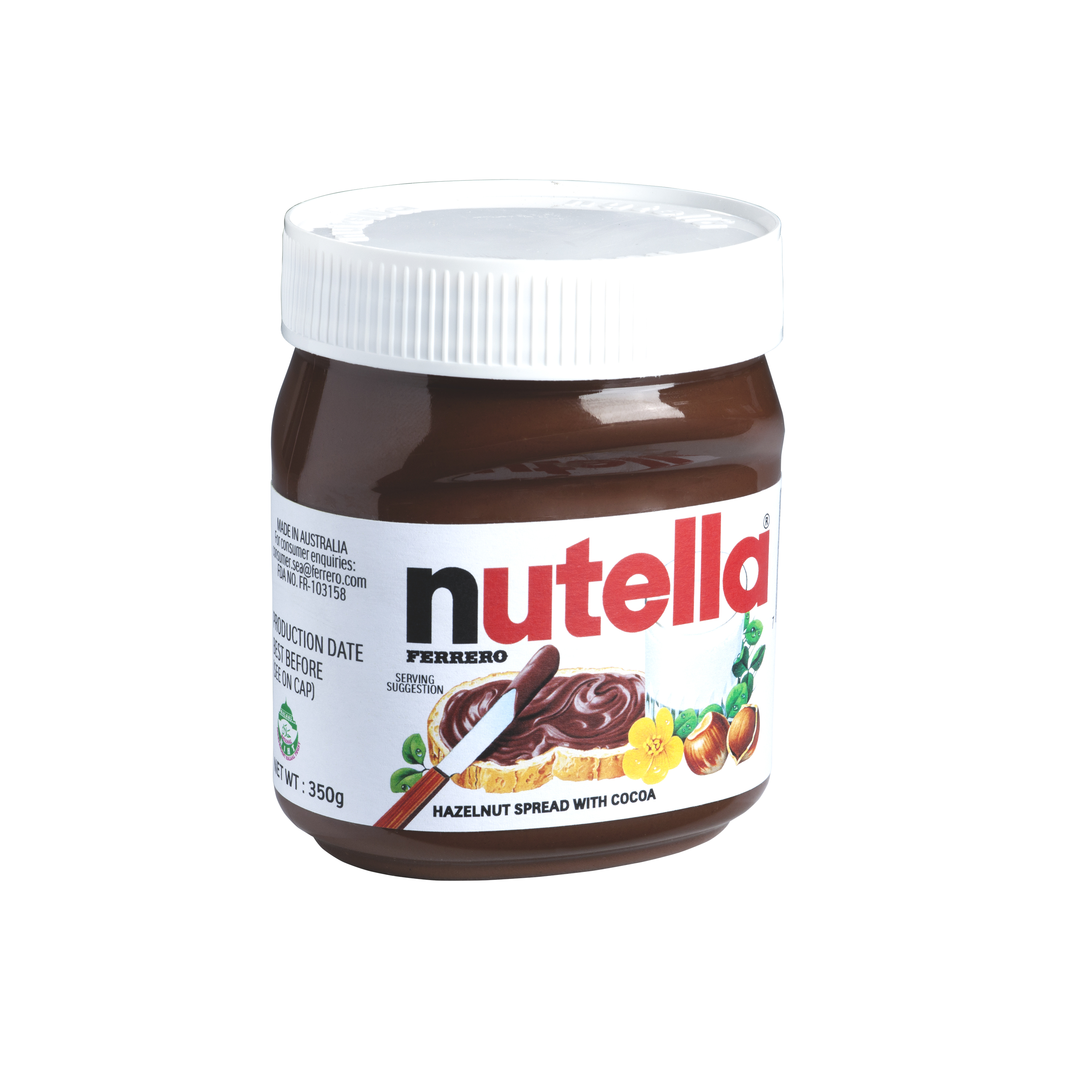 Nutella Hazelnut Spread T350 Jar 350gm 12 Jars Per Carton Sambal Cuk Travel Pack Bawang Imported From Australia Gba Pcode Fr114 Horeca Suppliers Supplybunny