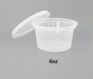 Round Clear Plastic Container With Lid 4oz 1000containersctn Sold