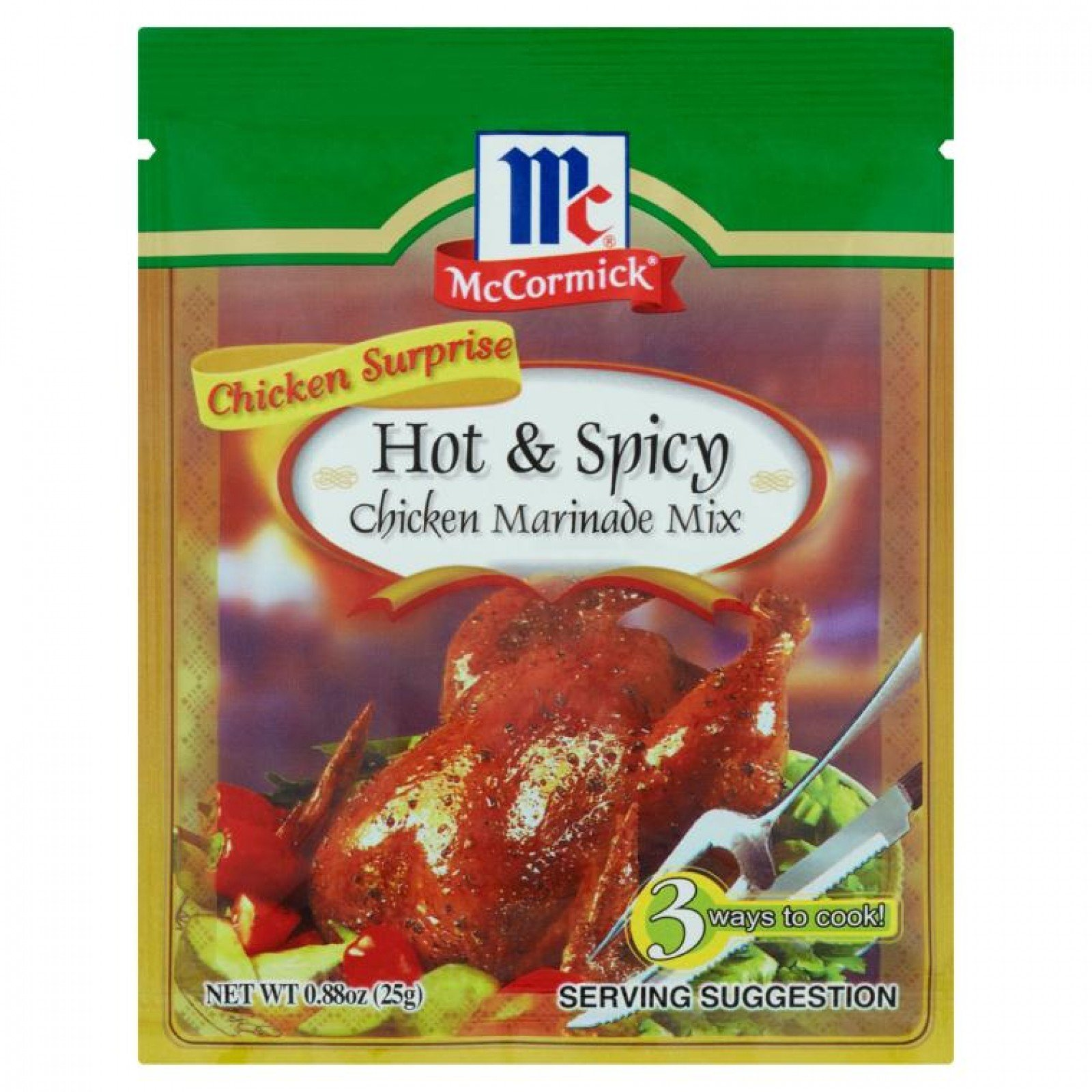 MCCORMICK CHICKEN SURPRISE MARINADE MIXES Hot & Spicy 25gm/pack (24 packs  per carton) Imported from the Philippines - GBA P Code: S0750